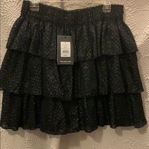 Who What Wear sparkle textured skirt